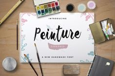 Check out Peinture Typeface (30% Off) by ianmikraz on Creative Market