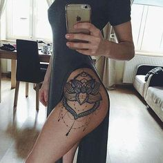 Hip/thigh tattoo