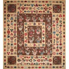 The English Basket Quilt  c. 1800
