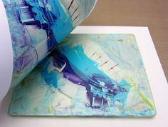 Printing with Gelli Arts®: Gelli® Printing Without a Brayer -- Along with using slow-drying paint comes another advantage. There's usually enough wet paint left on the plate after the first pull to create a vibrant ghost print!