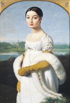 INGRES  Portrait de Mademoiselle Caroline Riviere 1805