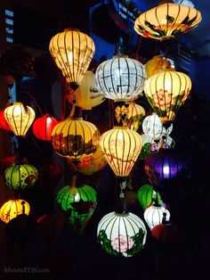 Quán Làng Quê Việt Nam, Hội An, Vietnam — by The Honeymoon Couple. You can find lanterns like these throughout Hoi An. The main market road has the most stores (Khu Cho Dem) which is...