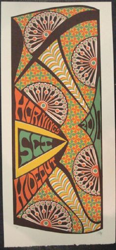 Original silkscreen concert poster for The String Cheese Incident at Horning's Hideout in North Plains, OR in 2010. It is printed on Watercolor Paper with Acrylic Inks and measures around 10 x 22 inches.  Print is signed and numbered 10 of only 115 by the artist Tripp.