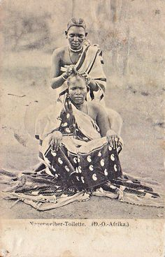 Traditional Hairdressing, German East Africa