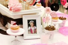Tea Party centerpiece and hair bow gifts for the girls