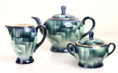 Art Deco Cubist Coffee Tea Service / Set Poland 1920s image 5