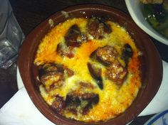 Tapas - Oven baked aubergine covered with cheese.    http://houseofherby.wordpress.com