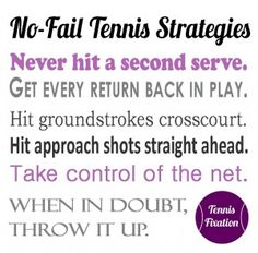 Don't Forget These No Fail Tennis Strategies #tennis #tips