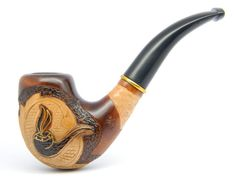 Wooden Gift Pipe Hand carved Pear wood Estate Rare by ArtyStore, $24.99
