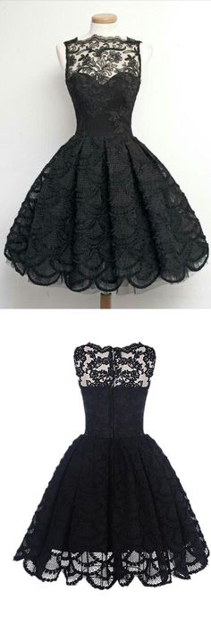 short prom dresses, black vintage party dresses, chic short homecoming dresses.