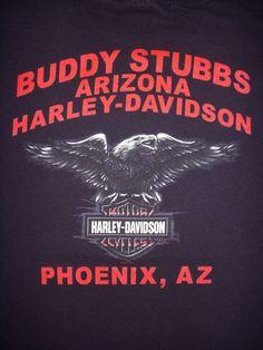 HARLEY DAVIDSON Buddy Stubbs PHOENIX ARIZONA Black T-SHIRT L LARGE #HarleyDavidson #GraphicTee