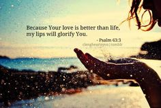 His love brings me peace, love, joy, hope. . . He fills me up! My cup overflows (Psalm 23:5)