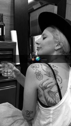 """ladyxgaga: """" Lady Gaga's new tattoo. The tattoo matches some of the sexual assault survivors' tattoos that joined her on-stage during her performance of """"Til It Happens To You"""" at the 88th annual..."""