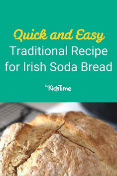 Quick and Easy Traditional Recipe for Irish Soda Bread Baking Tins, Baking Flour, Bread Baking, Recipe For Soda Bread, Focaccia Bread Recipe, Bread And Butter Pudding, Pudding Recipes, Family Meals, Favorite Recipes