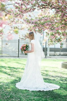modest wedding dress with cap sleeves from alta moda bridal (modest bridal gowns) photo by @kristinacurtisphotography