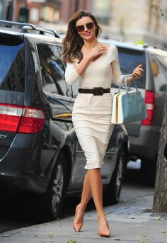 Miranda Kerr wearing SS12 Victoria Beckham   GETTY images