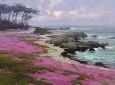 Pacific Grove Finery by Kim Lordier Pastel ~ 12 x 16