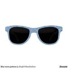 Blue wave pattern sunglasses