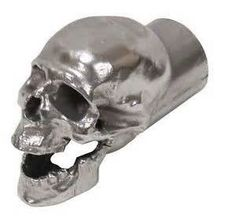 """Price: $124.95 Sale: $105.95 + $5.50 shipping You Save: $19.00 (15%) Hammered Aluminum Skull Exhaust Tip - 4"""", 3"""", 2.5"""" or 2"""" ... https://www.amazon.com/dp/B016C4KHLE/ref=cm_sw_r_pi_dp_x_-IQpzbFGZPH0V"""