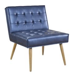Office Star Sizzle Azure Amity Tufted Accent Chair