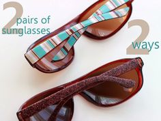 DIY sunglasses - customize them two ways! - Mod Podge Rocks