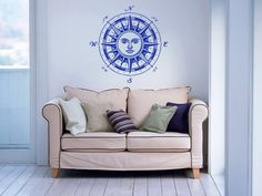 Creative Removable Wall Decals Sun Face Patteren Art Designed Wall Sticker Home Special Room Modern Decor Vinyl Wallpaper WM-557 #Affiliate