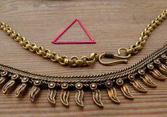 Brass Necklace Boho Necklace Ethnic Jewelry Hippie by OCcreation
