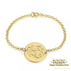 Can't get enough of the exquisite monogram trend? Our iconic engraving monogram bracelet is the perfect look for you to accessorize for any occasion. Monogram Bracelet, Personalized Bracelets, Gold Plated Bracelets, Sterling Silver Bracelets, Necklace For Girlfriend, Trendy Jewelry, Monogram Initials, Gold Jewellery, Jewlery