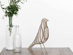 Build DIY bracket set [H2] bird decoration kit birch wood itself