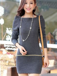 All-matching Knitted Bodycon Dress