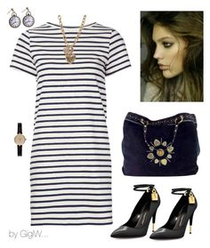 """""""Sailor Sam"""" by gigiwhoot ❤ liked on Polyvore featuring M.i.h Jeans, Tom Ford, Gucci, GUESS and Barbour"""
