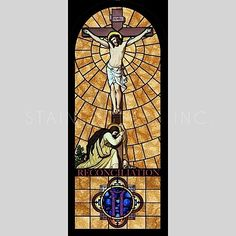 """""""The Baptism of Christ"""" Religious Stained Glass Window Stained Glass Church, Stained Glass Art, Stained Glass Windows, 7 Sacraments, Baptism Of Christ, Life Of Christ, Glass Artwork, Catholic Art, Stained Glass Patterns"""