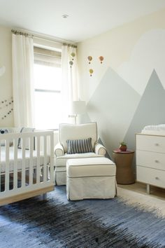 Mountains and Nature inspired gender neutral nursery