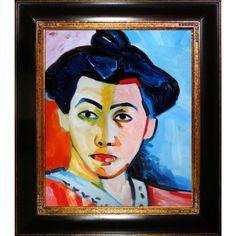 Herni Matisse The Stripe Hand Painted Framed Art