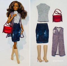 Barbie Van, Barbie Dress, Barbie Clothes, Muñeca Diy, African Dolls, Doll Wardrobe, Beautiful Barbie Dolls, Black Barbie, Barbie Accessories