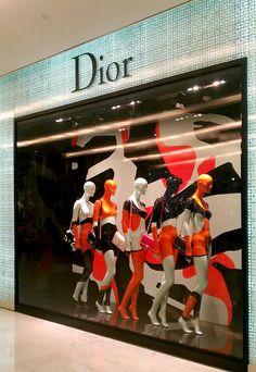 "DIOR,Emporium,Bangkok, Thailand, ""Cinq dans une rangee"", (Five in a Row), pinned by Ton van der Veer"
