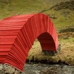 PaperBridge: A Load-Bearing Arch of Paper Sheets Spans an English Creek