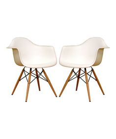 Another great find on #zulily! White Two-Piece Pascal Dining Chair Set #zulilyfinds www.zulily.com