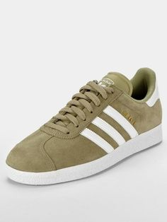 799ddfd67f0 adidas Originals Gazelle II Mens Trainers - Khaki White