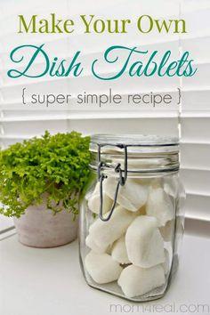 Easy Homesteading: Homemade Dishwasher Tabs DIY