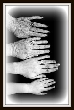 4 GENERATIONS OF WOMEN. look how satiny smooth the 4 yr. old girls hands are and the progression of age. We do HAND-DOWN our values, morals, ideas to the next generation. Be strong women and leave a good legacy < Generation Pictures, Generation Photo, Family Pictures, Baby Pictures, Baby Photos, Pictures Of Hands, Photography Poses, Family Photography, Grandparent Photography