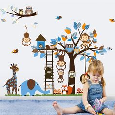 This item offer a great variety of jungle animal wall decals. Our collection of vinyl zoo animal wall decals, including polar bears and sea turtles, are better than traditional stickers because they'r