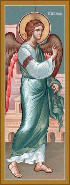 Byzantine Icons, Byzantine Art, Greek Icons, Symbolic Art, Paint Icon, Angels Beauty, Spiritual Images, Archangel Raphael, Religious Paintings