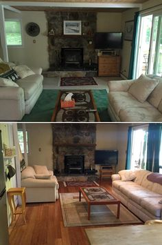 From carpet to click bamboo, this Long Beach, NY family room got a gorgeous upgrade! http://remodel.lumberliquidators.com/detail/12-x-5-click-strand-carbonized-bamboo-bamboo-long-beach-ny