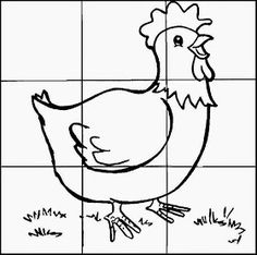 make your own chicken jigsaw Animal Activities, Montessori Activities, Fun Activities, Animals For Kids, Farm Animals, Farm Kids, Animal Puzzle, Picture Puzzles, School Worksheets