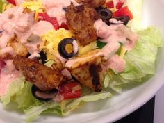 Gluten Free Chicken Taco Salad with Spicy Ranch Dressing Recipe.  http://wp.me/p2TQ6B-wV