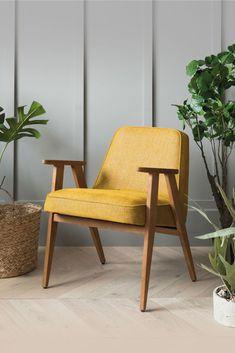 Fauteuil design et rétro de la marque 366 Concept à découvrir sur MonDesign.com #design #366 #fauteuil #armchair #interiordesign #green #plants #inspiration #vintage #interieur