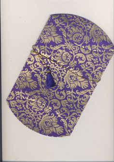 Purple-Gold Collapsible Pouch  (119) Purple Gold, Pouch, Presents, Cards, Gifts, Porch, Map, Gifs, Playing Cards