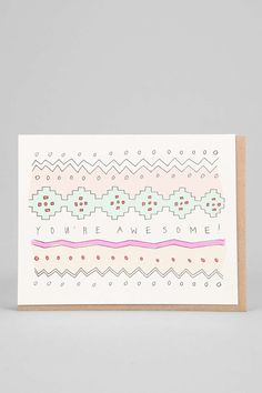 Hartland Brooklyn Youre Awesome Card - Urban Outfitters