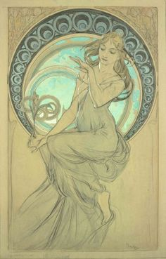 The Arts: study for 'Painting' (1898) - Mucha
